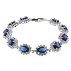 Ladies Sapphire Blue and White Swarovski Element B