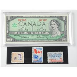 1967 Bank of Canada One Dollar with Special Editio
