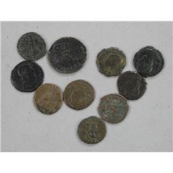 10x Ancient Roman Coins w/Books.