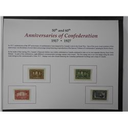 50th and 60th Anniversaries of Confederation Stamp