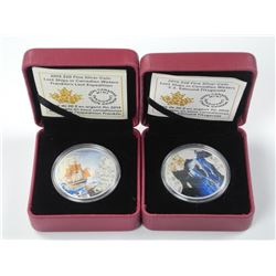 """2x RCM Fine Silver Coins - """"Lost Ships in Canadia"""