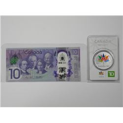 Lot (2) Canada 150th Collector Bullion and Note. .