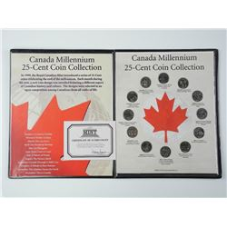Canada Millennium 25 Cent Coin Collection with C.O