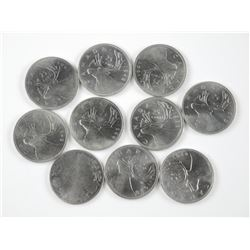 10x Canada Silver 25 Cent Coins