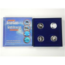 Ocean Giants Sterling Silver 50c Four Coin Set.