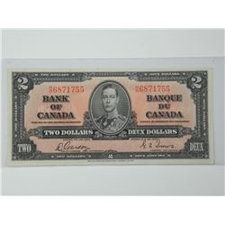 1937 Bank of Canada $2. UNC. (MME).