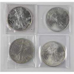 4x Fine Silver USA Round - Back Dates.