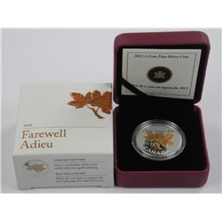 2012 1c Farewell to the Penny - 1/2 oz. Pure Silve