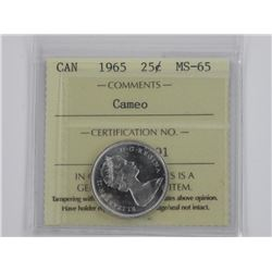 CAN 1965 25c MS-65. ICCS.