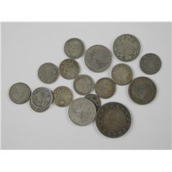 18x Canada Silver Coin (50 Cent, 25 Cent, 10 Cent)
