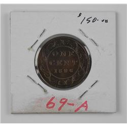 1896 Canada Large 1 Cent MS-62 )Ser).