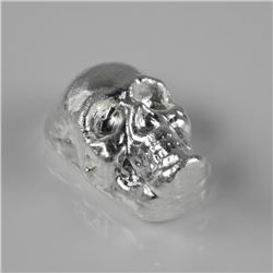 .999 Fine Silver 2oz Skull - Hand Poured in Canada
