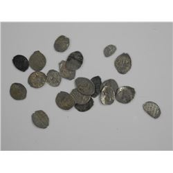 20x Mixed 'TSARS' Wire Money Circa 1584-1725.