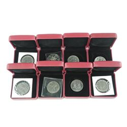 8x Nickel Dollar Encased. (MIXED)