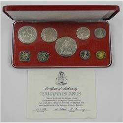 1973 Proof Bahama Islands Silver Mint Coins Set.
