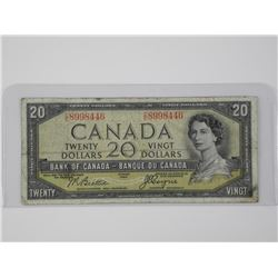 1954 Bank of Canada Twenty Dollar Note. Devil's Fa