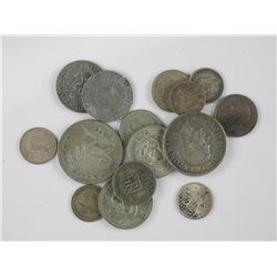 15x World Silver Coins. (Australia, South Africa,