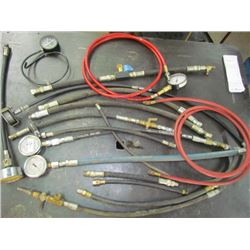 Pressure testing gages and hoses
