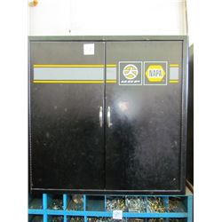 2 door metal cabinet 32x30(nuts, bolts, fittings)