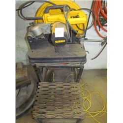 DeWalt chop saw with step stool