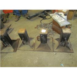 4 Heavy duty axle stands