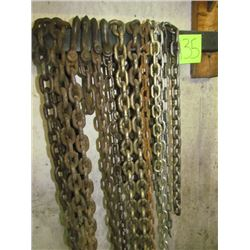 Assorted chains - some with hooks