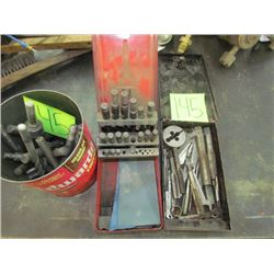 Assorted drill bits with 2 cases