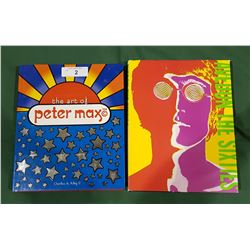 HARD COVER PETER MAX ART BOOK & ART OF THE 60'S BOOK