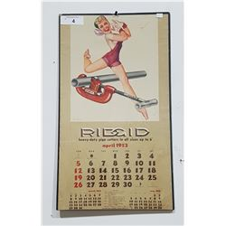 VINTAGE 1953 PIN UP GIRL CALENDAR