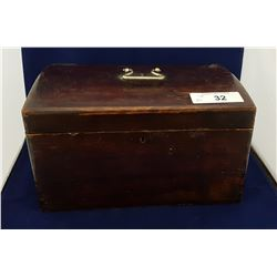 ANTIQUE WOOD SAFETY BOX