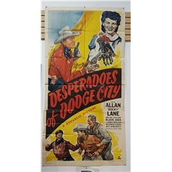 ORIGINAL 1950'S LARGE 3 SHEET MOVIE POSTER