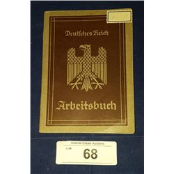 1930'S GERMAN NAZI WORKERS EMPLOYMENT BOOK
