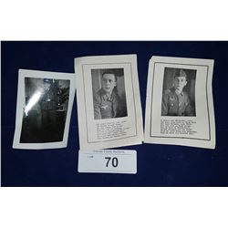 TWO NAZI WWII DEATH CARDS & PHOTO