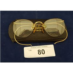 EARLY 1920'S 12KT GOLD EYE GLASSES IN ORIGINAL CASE