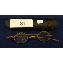 ANTIQUE 1900'S EYE GLASSES MADE IN FRANCE W/EARLY CASE