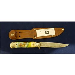 VINTAGE SOUVENIER OF CANADA KNIFE W/RCMP MOUNTIE