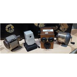 FOUR VINTAGE PENCIL SHARPENERS