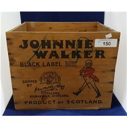VINTAGE JOHNNY WALKER WHISKEY WOODEN CRATE