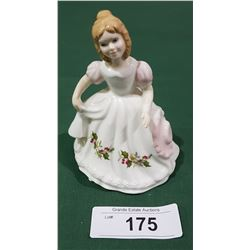 SMALL ROYAL DOULTON DECEMBER FIGURINE