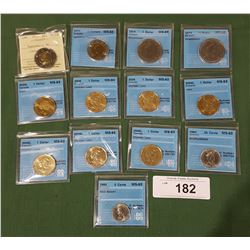 13 GRADED CANADIAN COINS