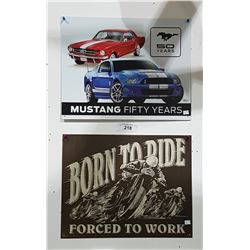 MUSTANG & BORN TO RIDE SST SIGNS