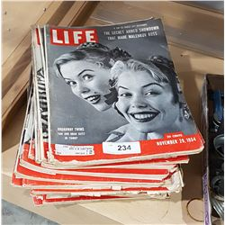 LOT OF COLLECTIBLE 1940'S & 50'S LIFE MAGAZINES