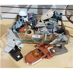 LOT OF COLLECTIBLE STAR WARS VEHICLES