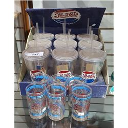 LOT OF COLLECTIBLE PEPSI COLA GLASSES