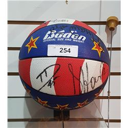 SIGNED HARLEM GLOBETROTTER'S BASKETBALL