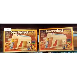 2 VINTAGE MATTEL SEW PERFECT SEWING MACHINES