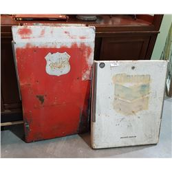 2 VINTAGE GAS PUMP PANELS