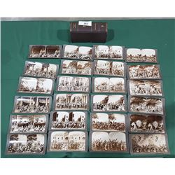 ANTIQUE SET OF 24 STEREOGRAPHS FOR STEREOSCOPE