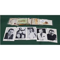 COLLECTION OF VINTAGE POSTCARDS & PICTURES OF FAMOUS MUSICIANS