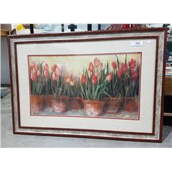 DECORATIVE PRINT OF TULIPS